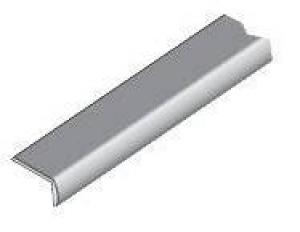 13.1090 Окантовочный профиль хром  0711, 10х18,5мм, 2,7м с клеем