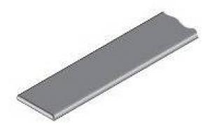 13.8260 Накладной профиль алюминий 7248, 1,5х22мм, 3м, с клеем
