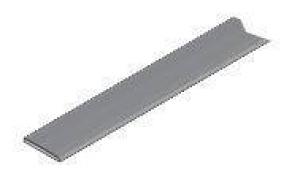 14.2800 Накладной профиль алюминий 7248, 1,5х15мм, 3м, с клеем