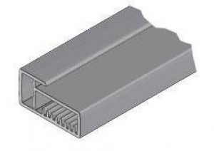 15.7740 Рамочн. профиль сталь 23х45 мм, 3м, паз 4 мм