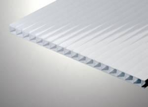 Поликарбонат сотовый 10х2100х12000мм опал 6В SPC (белый)