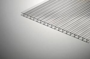Поликарбонат сотовый 10х2100х12000мм прозрачный PLG