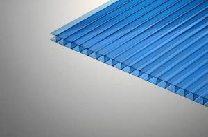 Поликарбонат сотовый 10х2100х12000мм синий PLG