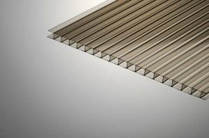 Поликарбонат сотовый 25х2100х12000мм бронзовый Thermogal  PLG