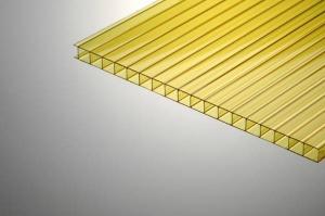 Поликарбонат сотовый 6х2100х12000мм желтый PLG