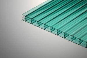 Поликарбонат сотовый 8х2100х12000мм зеленый, «практичный» PLG