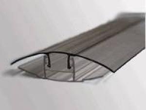 Профиль соединительный крышка HCP 6-10мм прозрачный, L=6м, Карбогласс