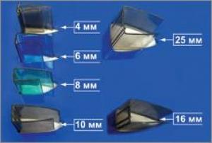 Профиль торцевой UP 6мм прозрачный, L=2,1м, Карбогласс