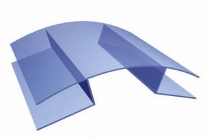 Профиль коньковый алюм., 10-16, 6м, в сборе