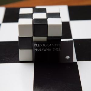 Оргстекло черное/белое Plexiglas GS