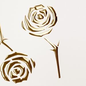 SIBU 3D Roses Pearl White PF/Gold 1,13х1000х2600мм с клеем