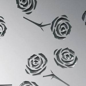 SIBU 3D Roses Silver PF met/Silver 1,4x1000x2600мм с клеем