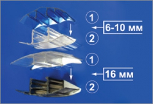 Профиль соединительный база HCP 10мм и 16мм алюмин., L=6м
